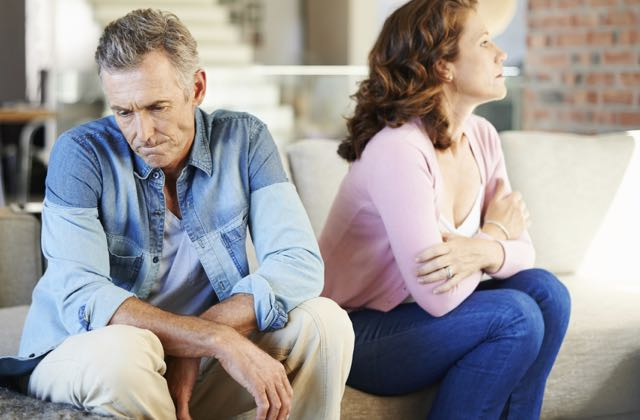 A mature couple experiences marriage problems and considers marriage counselling
